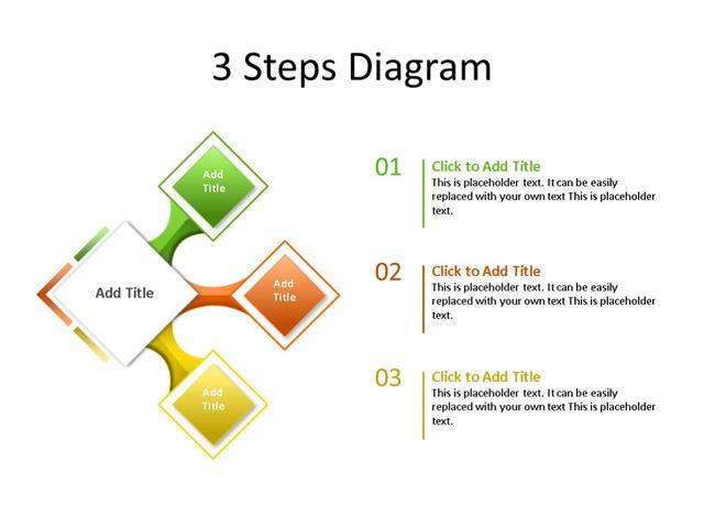PowerPoint Slide - Process Diagram - 3 Steps - Multicolor