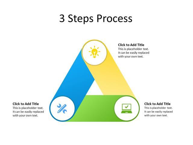 PowerPoint Slide - Steps Diagram - 3 Steps - Multicolor