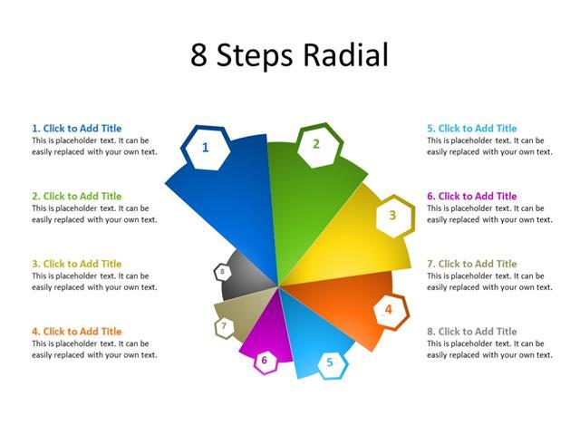 PowerPoint Slide - Marketing Diagram - 8 Steps - Multicolor