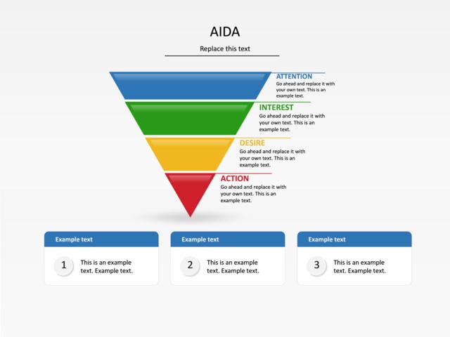 Powerpoint Slide Aida Diagram Inverted Pyramid U001