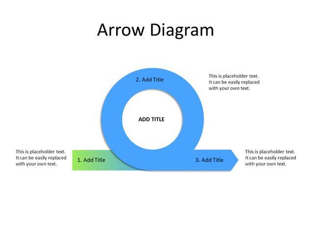 PowerPoint Slide - Arrow Diagram - 1 arrow - Multicolor
