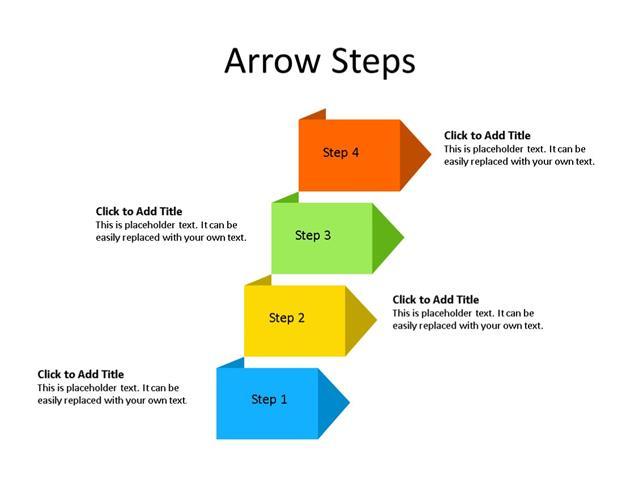 PowerPoint Slide - Arrow Diagram - 5 Steps - Multicolor
