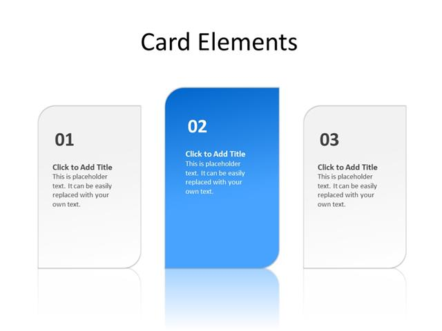 PowerPoint Slide - Carousel - 3 cards - Multicolor