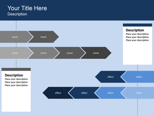 powerpoint slide chevron list diagram arrow 2 blocks blue