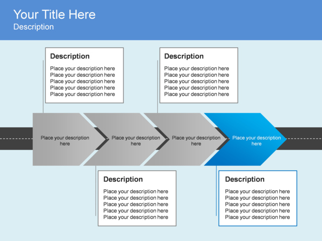 Marketing Timeline Template PowerPoint furthermore PowerPoint Process ...