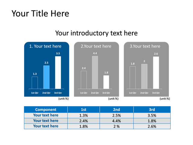 powerpoint slide - column chart - blue - 785-1 | crystalgraphics, Powerpoint templates