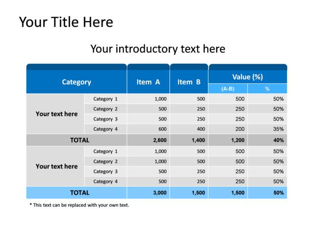 Powerpoint slide comparison table diagram a b blue 800 1 powerpoint slide comparison table diagram a b blue 800 1 ccuart Images