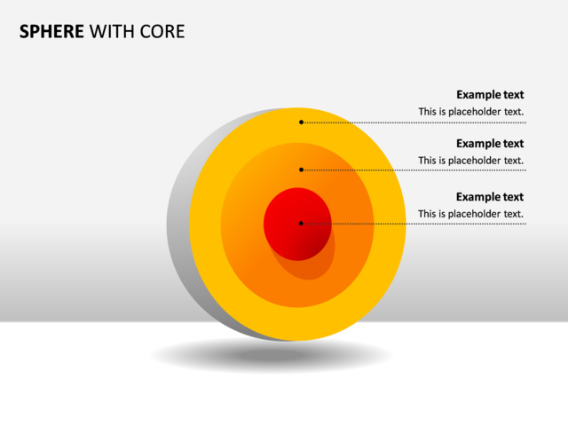 Powerpoint Slide Concentric Spheres Diagram 3d 3 Spheres P33