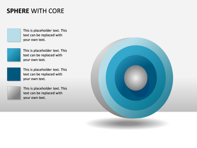 Powerpoint Slide Concentric Spheres Diagram 3d 4 Spheres P33
