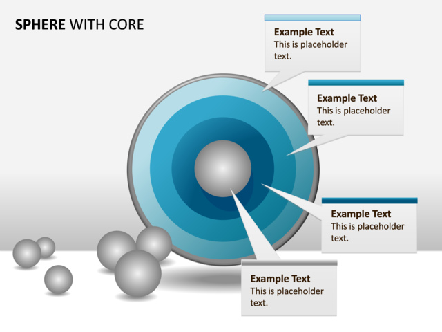 Powerpoint Slide - Concentric Spheres Diagram - 4 Spheres