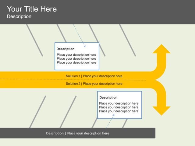 Powerpoint Slide Continuous Arrow Process Diagram Parking Lot