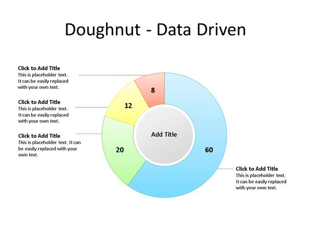 PowerPoint Slide - Doughnut Diagram - 4 Sectors - Multicolor