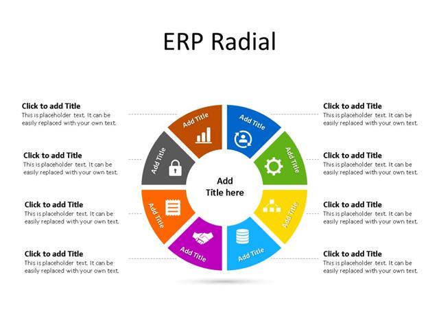 PowerPoint Slide - ERP Diagram - 8 Steps - Multicolor