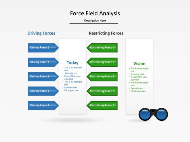 Powerpoint Slide Force Field Analysis Diagram Bars Graph 2