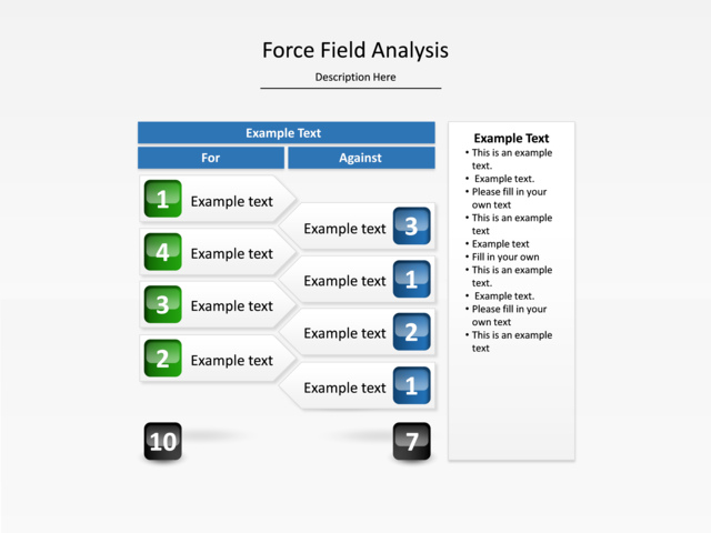 Powerpoint Slide Force Field Analysis Diagram Bars Graph 9