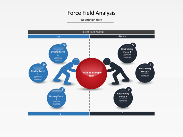 Powerpoint Slide Force Field Analysis Diagram Circles People