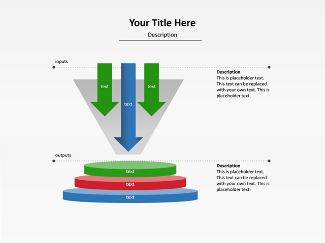 Powerpoint Slide Funnel Diagram Input Output U117 14