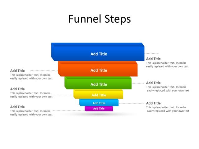 PowerPoint Slide - Funnel Diagram - 6 stages - Multicolor