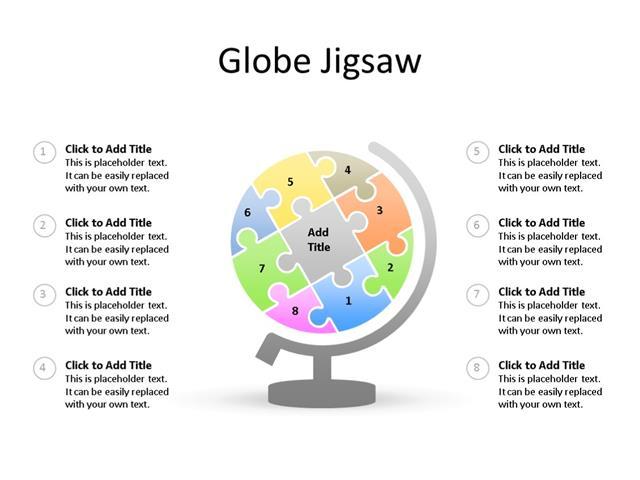 PowerPoint Slide - Puzzle Diagram - 8 Pieces - Multicolor