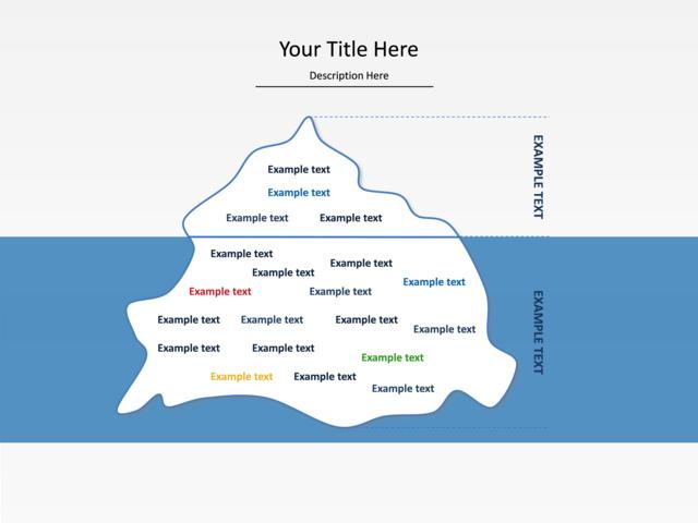 Powerpoint Slide Grouped List Diagram Iceberg U016 6