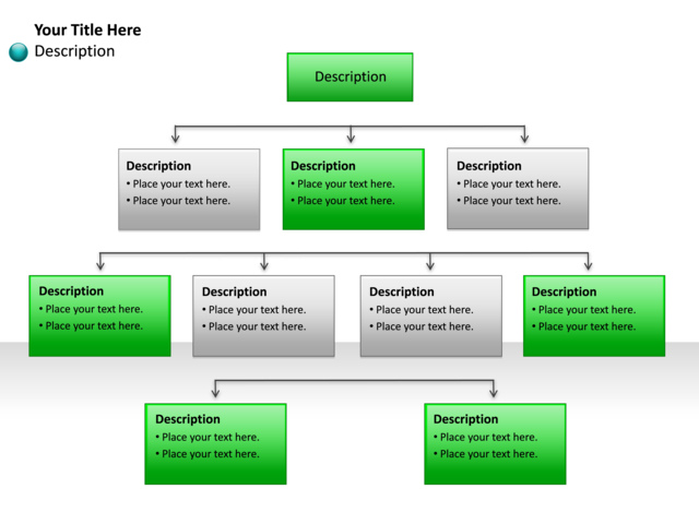 Powerpoint Slide Hierarchy Diagram 10 Blocks P7 25