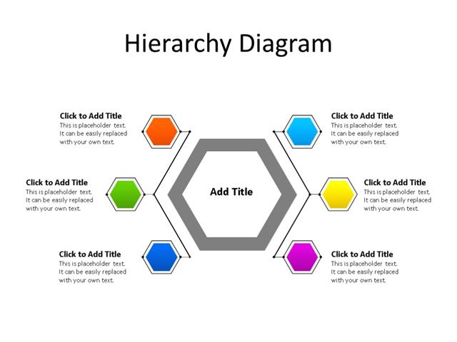 Ppt Slide Hierarchy Diagram 6 Steps Multicolor