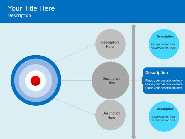 PowerPoint Slide - Horizontal Hierarchy Diagram - Target - 3 ...