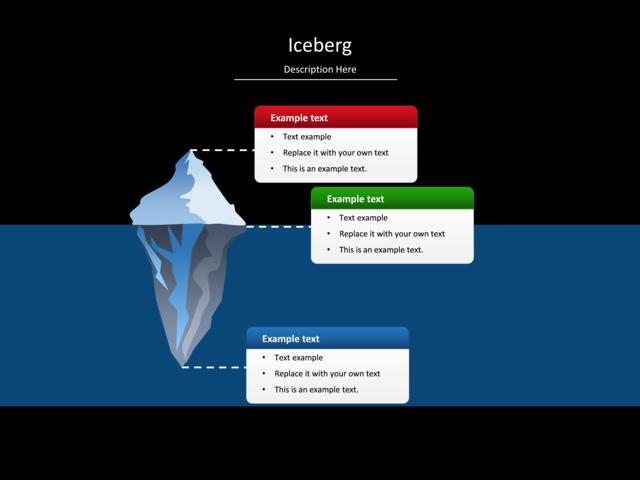 Powerpoint Slide Iceberg Diagram Iceberg Water 3 Groups