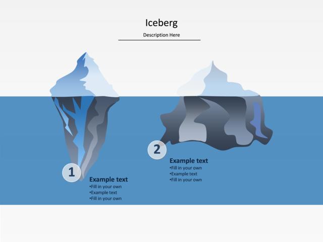 Powerpoint Slide Iceberg Diagram Iceberg Water Blue U016 2