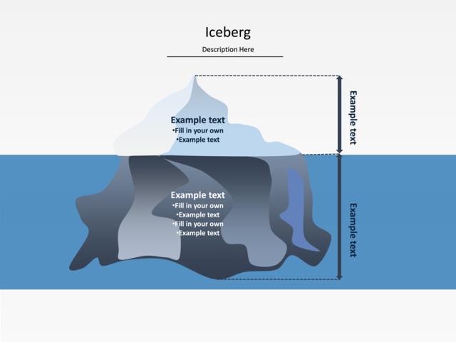 Powerpoint Slide Iceberg Diagram Iceberg Water Blue U016 4