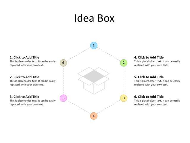 PowerPoint Slide - Steps Diagram - 6 steps - Multicolor
