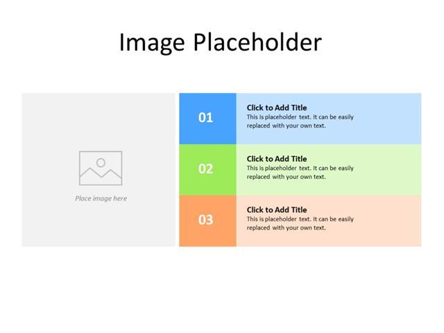 PowerPoint Slide - bullet list - 3 bullets - Multicolor