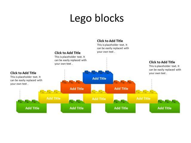 PowerPoint Slide - Lego Blocks - Legos - Multicolor