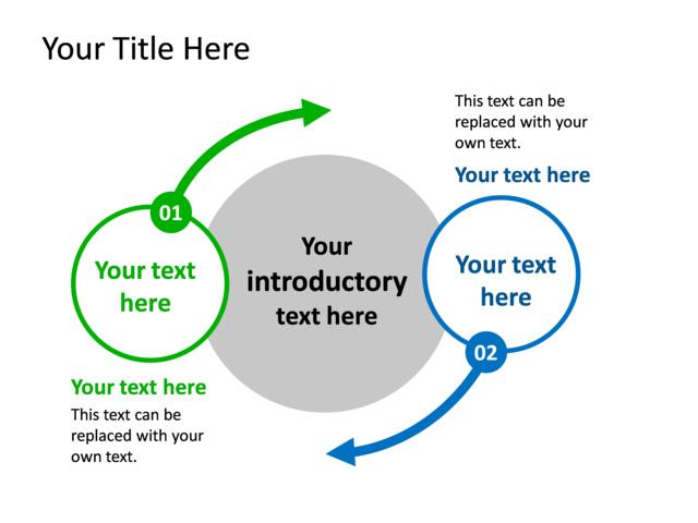 Powerpoint Slide Opposing Ideas Diagram 2 Circles