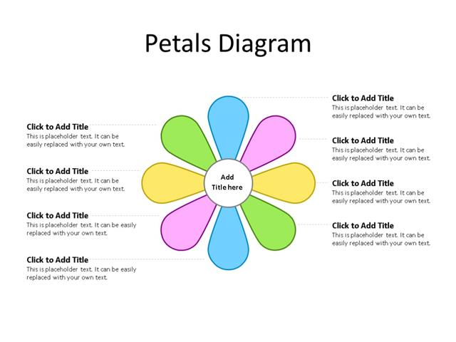 PowerPoint Slide - Petals Diagram - 8 Petals - Multicolor