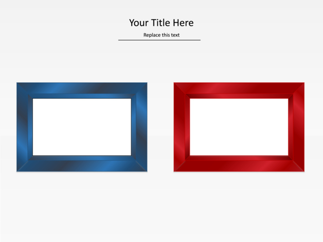 powerpoint slide - picture frame diagram - pictures - 2 images, Powerpoint templates