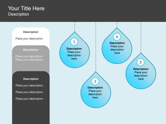 powerpoint slide - process list diagram - water - drop - 7 ... ocean drop diagram