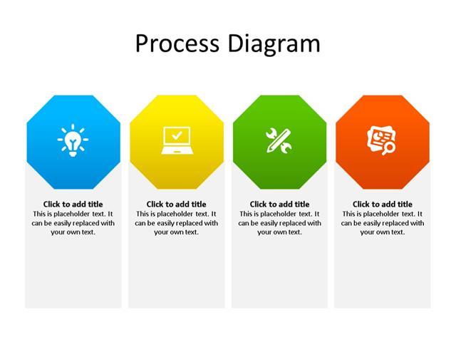 PowerPoint Slide - Process Diagram - 4 Steps - Multicolor
