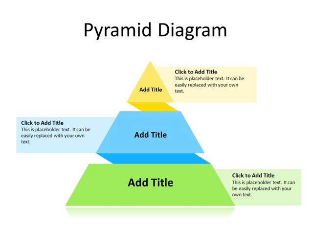 PowerPoint Slide - Pyramid Diagram - 3 stages - Multicolor