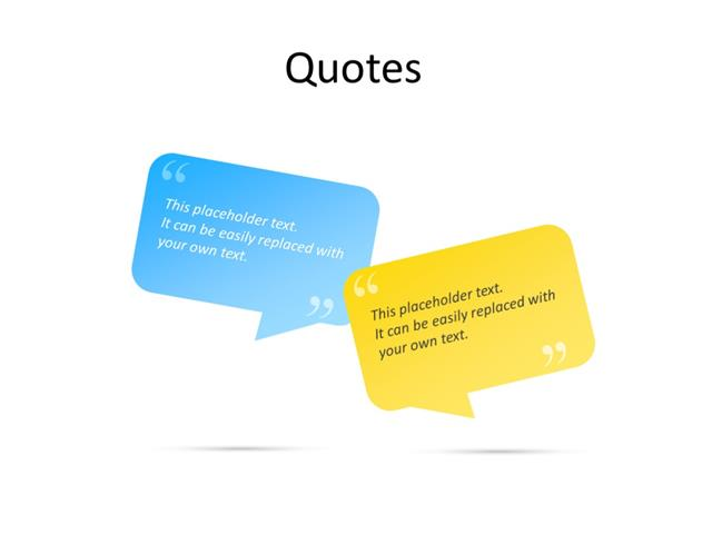 PowerPoint Slide - Quotes - 2 quotes - Multicolor
