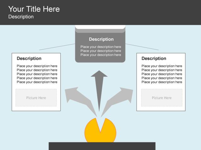 powerpoint slide - radial list diagram - 3 blocks - blue - 3217-2, Powerpoint templates