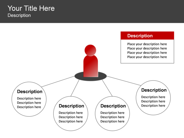 powerpoint slide - radial list diagram - leadership