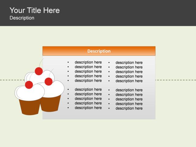 powerpoint slide single block list diagram cupcake 1 block olive 3152 1. Black Bedroom Furniture Sets. Home Design Ideas