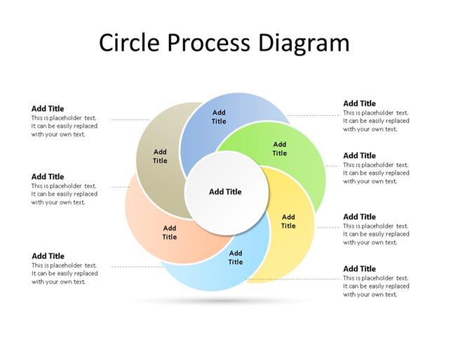 PowerPoint Slide - Radial Diagram - 6 Steps - Multicolor