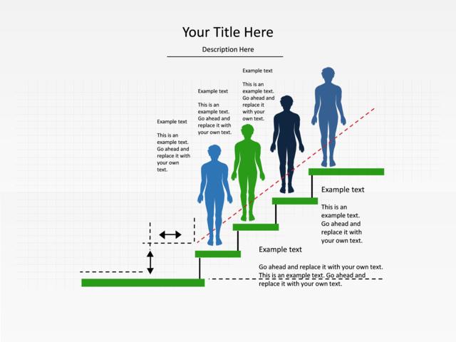powerpoint slide step up process diagram 4 people 4. Black Bedroom Furniture Sets. Home Design Ideas