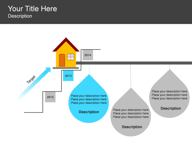 Powerpoint slide step up process diagram building for Steps in building a house timeline