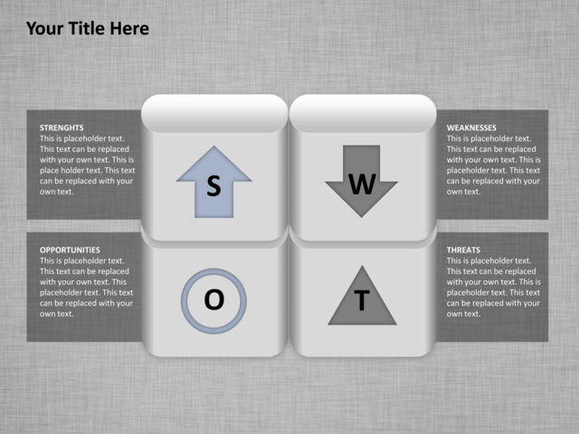 powerpoint slide - swot analysis diagram - matrix - 3d - 4 boxes, Powerpoint templates