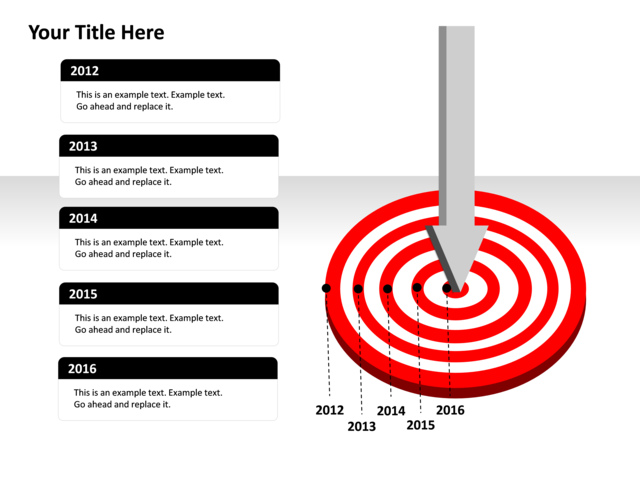 powerpoint slide target diagram timeline arrow p24 4