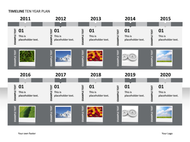 powerpoint slide timeline diagram 10 years illustrated p34 7