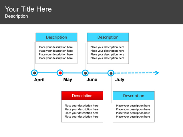 powerpoint slide timeline diagram 4 blocks 3303 1
